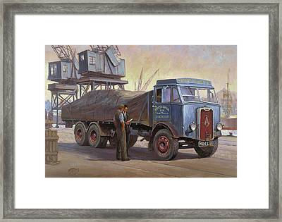 Atkinson At The Docks Framed Print by Mike  Jeffries