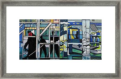 Framed Print featuring the painting Atlanic City Abstract No.1 by Patricia Arroyo