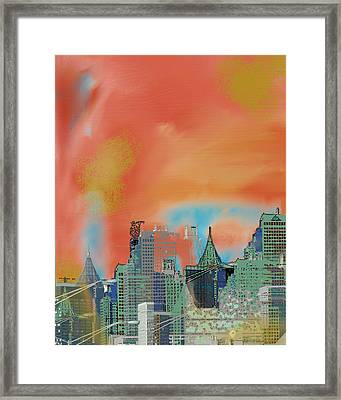 Atlanta Abstract After The Tornado Framed Print