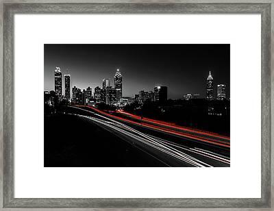 Atlanta Black And White Framed Print