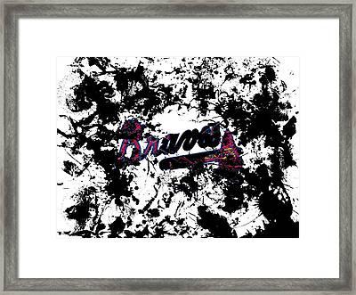 Atlanta Braves 1b Framed Print by Brian Reaves