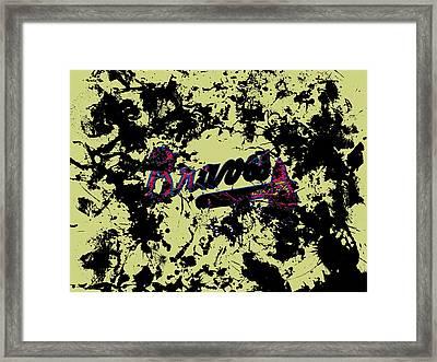 Atlanta Braves 1c Framed Print by Brian Reaves