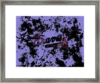 Atlanta Braves 1e Framed Print by Brian Reaves