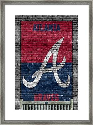 Atlanta Braves Brick Wall Framed Print
