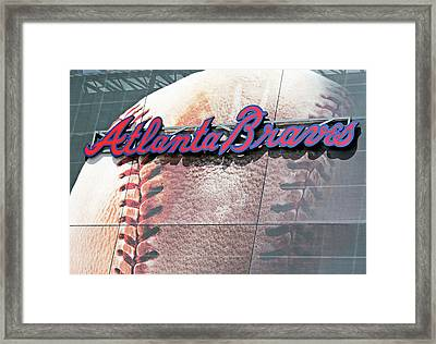 Framed Print featuring the photograph Atlanta Braves by Kristin Elmquist