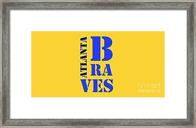 Atlanta Braves Original Sign Framed Print by Pablo Franchi
