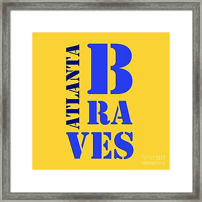 Atlanta Braves Sign Framed Print by Pablo Franchi