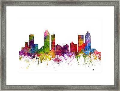 Atlanta Cityscape 06 Framed Print