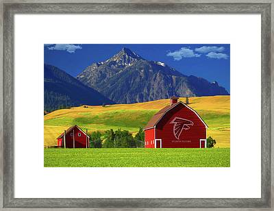 Framed Print featuring the photograph Atlanta Falcons Barn by Movie Poster Prints