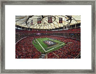 Atlanta Falcons Georgia Dome Framed Print