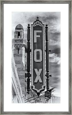 Atlanta - Fox Theatre Sign #1 Framed Print