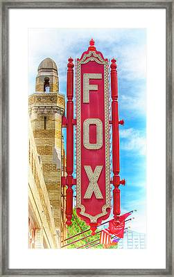 Atlanta - Fox Theatre Sign #9 Framed Print by Stephen Stookey