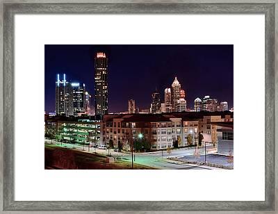 Atlanta From Above Framed Print