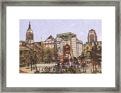Atlanta Georgia Usa - Color Pencil Framed Print