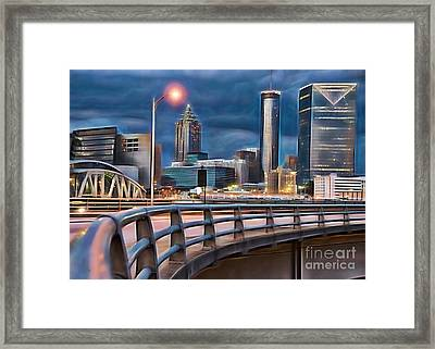 Atlanta Georgia Skyline Framed Print