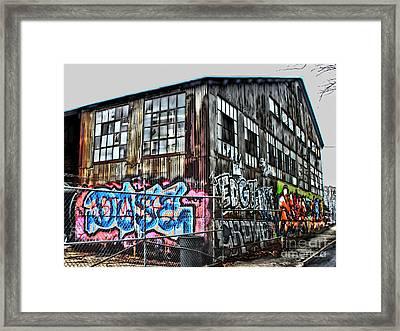 Atlanta Graffiti Warehouse Framed Print by Corky Willis Atlanta Photography