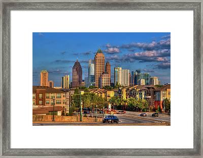 Atlanta Midtown Atlantic Station Art  Framed Print