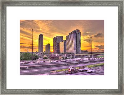 Atlanta Midtown Atlantic Station Sunset Framed Print