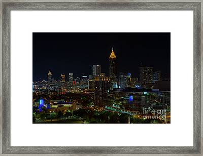 Atlanta Nights Framed Print