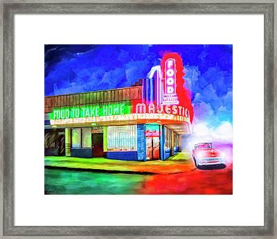 Atlanta Nights - The Majestic Diner Framed Print by Mark Tisdale