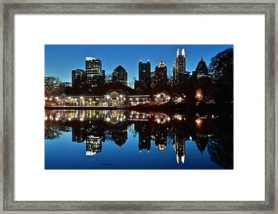 Atlanta Reflects Framed Print by Frozen in Time Fine Art Photography