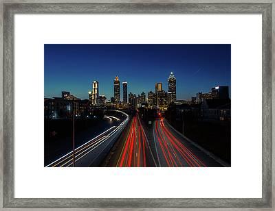 Atlanta Skyline 1 Framed Print