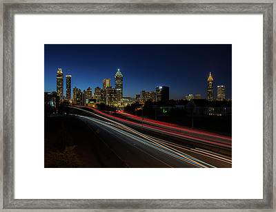 Atlanta Skyline 2 Framed Print