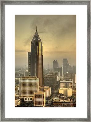 Atlanta Skyline At Dusk Framed Print by Robert Ponzoni
