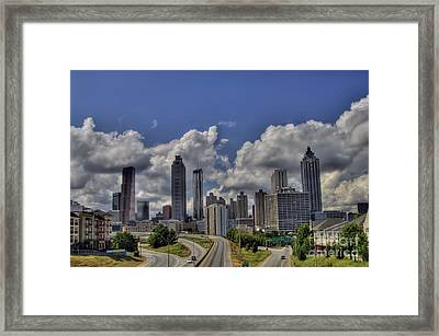 Atlanta Skyline Framed Print by Corky Willis Atlanta Photography