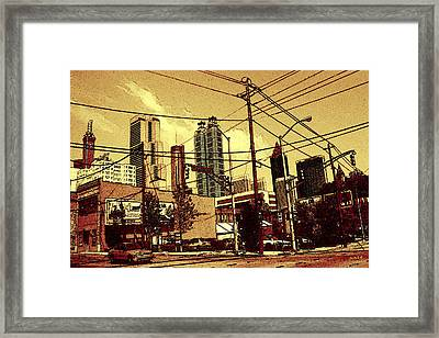 Atlanta Skyline 99 - Cola Colored Framed Print