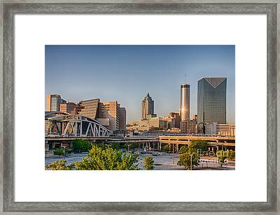Atlanta Skyline Philips Arena Framed Print