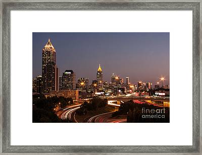 Atlanta Skyline - Scad Framed Print