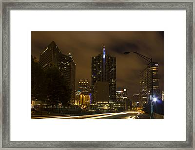 Atlanta Spring Street Lights Framed Print by Reid Callaway