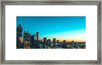 Atlanta Tonight Framed Print
