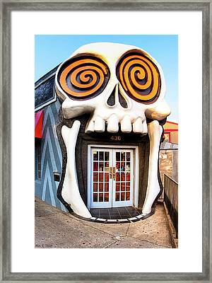 Framed Print featuring the photograph The Vortex In Eclectic Little Five Points by Mark E Tisdale