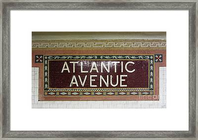 Atlantic Avenue Subway Sign Framed Print by Nishanth Gopinathan