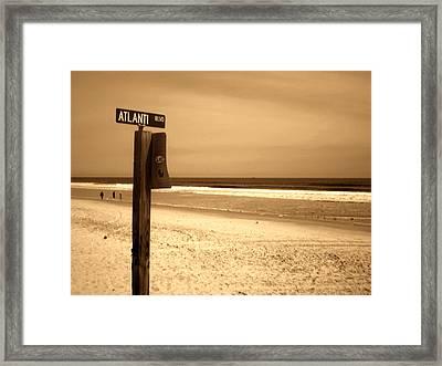Atlantic Beach Framed Print