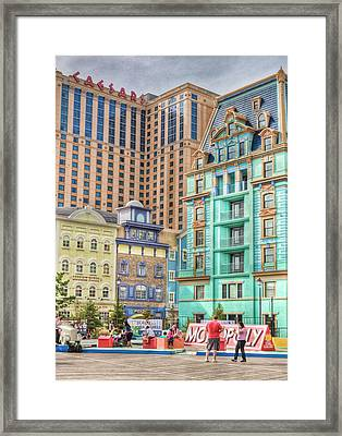 Framed Print featuring the photograph Atlantic City Boardwalk by Matthew Bamberg