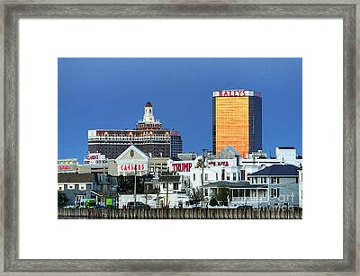 Atlantic City Casinos Framed Print by John Greim