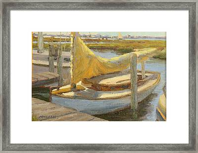 Atlantic City Cat Boat Framed Print by Marianne Kuhn