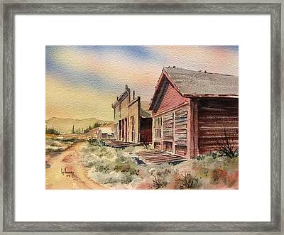 Atlantic City Ghost Town Wyoming Framed Print by Kevin Heaney