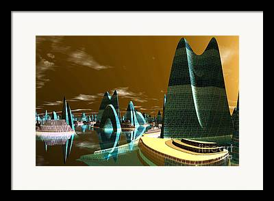 Cities Of The Future In The Year 2498 Framed Prints
