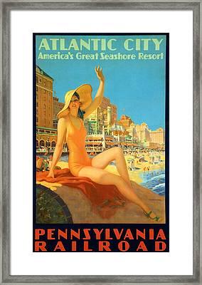 Atlantic City  Framed Print by Georgia Fowler