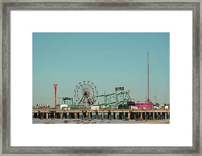Atlantic City Steel Pier Amusements Framed Print