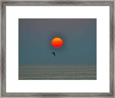 Atlantic City Sunrise Framed Print by Bill Cannon