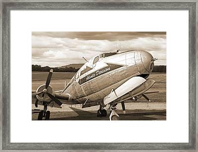 Atlantic Division Sepia Framed Print by Gill Billington