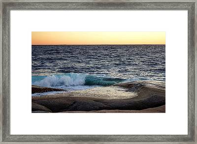 Atlantic Ocean, Nova Scotia Framed Print