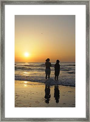 Atlantic Ocean Sunrise - Vertical Framed Print by Darrell Young