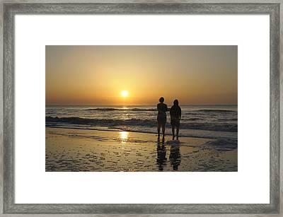 Atlantic Ocean Sunrise Framed Print by Darrell Young