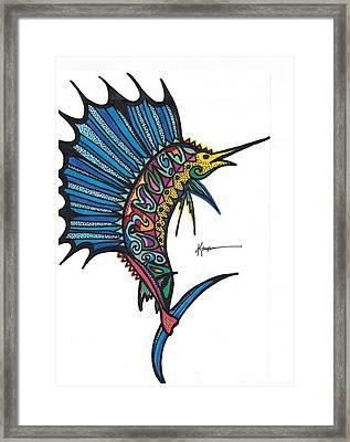 Atlantic Sailfish Framed Print